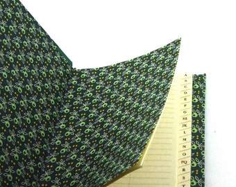 Address Book with tabs, emerald green olive leafs phone book, birthday gift, mothers day gift, green phone book, telephone directory