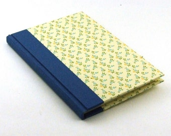 Address Book blue yellow forget-me-not flowers
