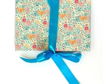 Accordion Book Summerflower teal turquoise