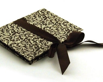Zigzag- Photo- Book brown Renaissance ornament Accordion Book with black pages