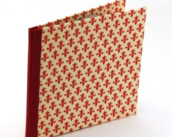 Nauli handmade Cd Case red Lily pattern