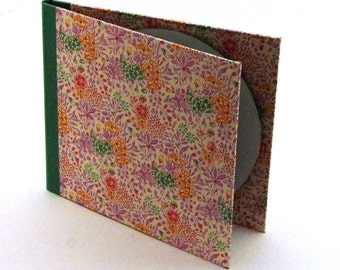 Nauli handmade DVD folio Summerflower pink green