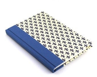 small Address Book, blue telephone book, fleur de lis, blue phone book, email directory, address book with tabs, mothers day gift idea