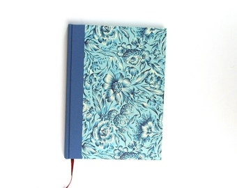 Din A5 Weekly Planner 2018 blue Indian Flowers, large Agenda