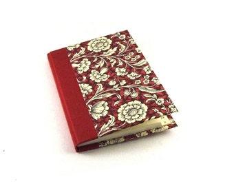 Address Book red Renaissance Flower