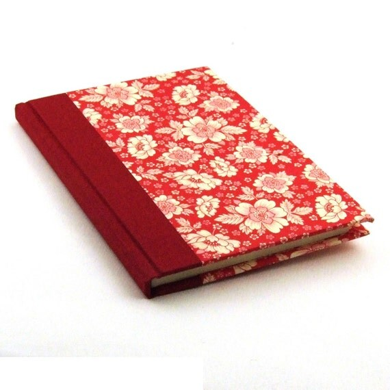 Nauli handmade Address Book red English flower