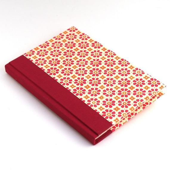 Nauli Address Book red orange flower stamps