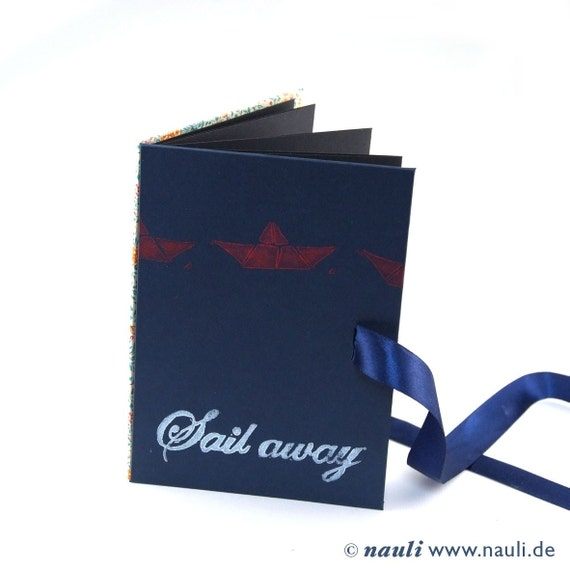 Sail Away Accordion Book - Sailor Beach Wedding