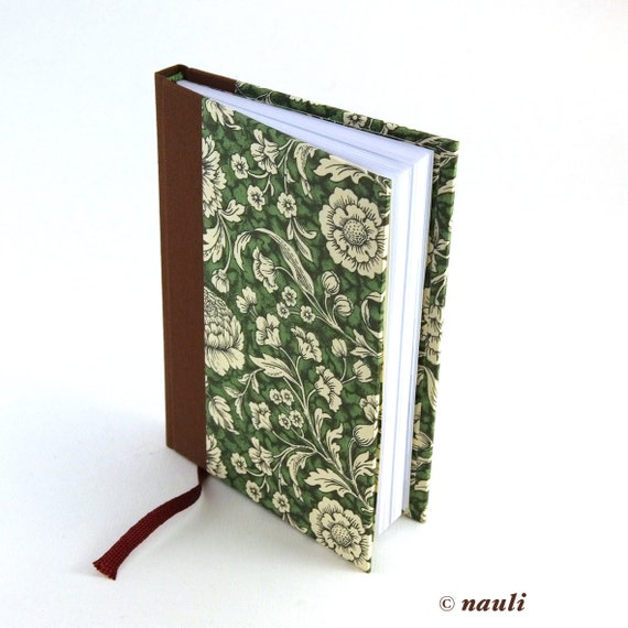 Weekly Planner 2017 brown green Renaissance Flower, two pages on week agenda, hard bound planner, calendar book 2017, gift for her