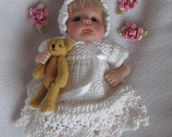 OOAK Clay Sculpt Designer Doll Knitting Pattern for 7-8 inch baby doll - Alicia Holly PDF
