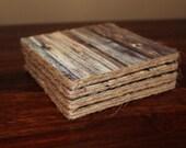 SALE-Wood Plank Coaster Set