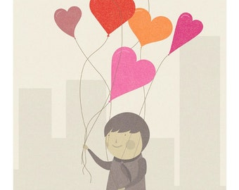 The Love Balloons Print - Different Sizes
