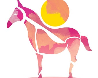 The Horse and the Sun Print - Different Sizes