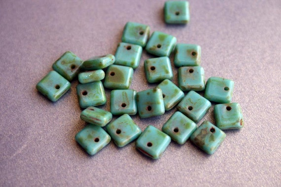 Turquoise Picasso Squarelets