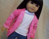 American Girl Doll Clothes -- Slouch Cardigan -- Pink