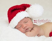 Newborn OR 0-3 Month Santa Hat Photography Prop