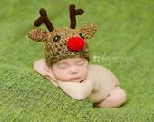CLEARANCE 15% OFF Newborn Reindeer Hat