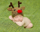 CLEARANCE 15% OFF 0-3 Month Reindeer Hat