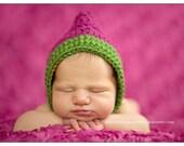 Fern and Magenta Pixie Bonnet - Newborn Photography Prop
