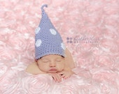 SALE Lavender Toadstool Gnome Beanie - Newborn Photography Prop