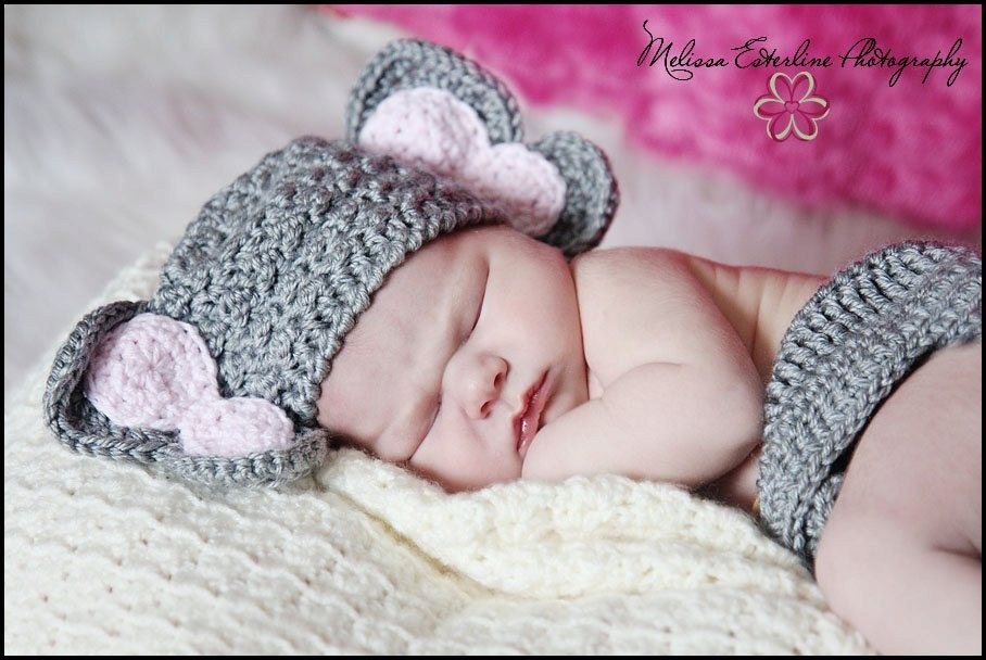 Crochet Elephant hat diaper cover elephant set photo prop