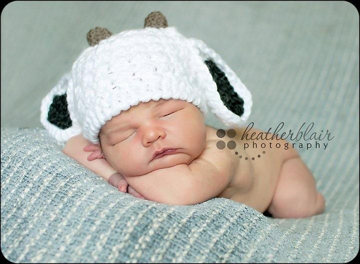 Baby Goat Hat Billie Goat Crochet Baby Hat Photo Props