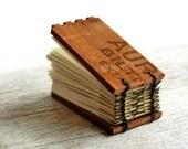 Little Aurelia - Mini Handstitched Cigar Box Journal