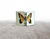 Butterfly Journal, Golden Transformation, Mini Hand Bound Note Book