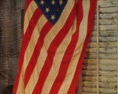 American Flag, 48 stars, Vintage complete with original wood pole