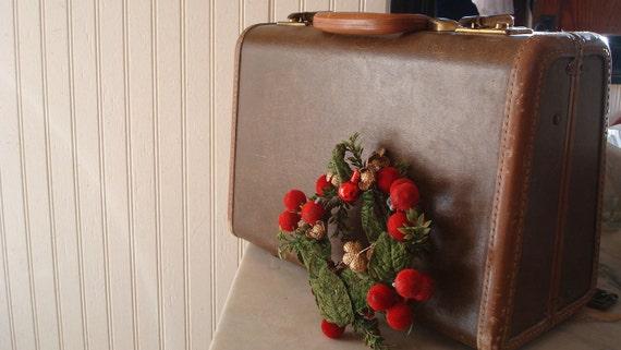 suitecase, vintage, small Samsonite, Milk Chocolate Mocha