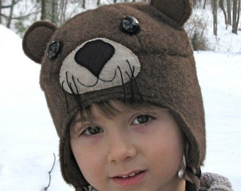 The Original Awesome Otter Hat for Young Adults with fleece braids