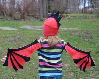 Children's Dragon Wings and Hat set - For Bigger Kids Who Still Soar