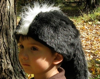 Deluxe Davy Crockett Skunk Tail Hat for Children
