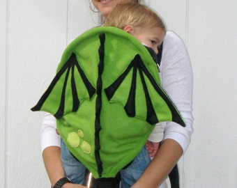 Green Baby Dragon Carrier Cover - Baby Carrier Accessory with Huge Pocket Storage