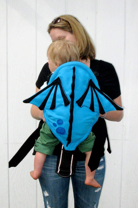 Decorative Baby Dragon Carrier Cover - Baby Carrier Accessory with Hidden Front Pockets