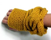 Woman's Fingerless Gloves. The Tipperary Gloves in Mustard Yellow