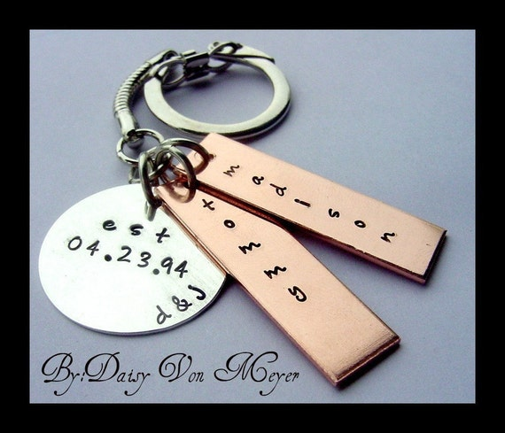 COULD IT BE HIS KEY CHAIN HAND STAMPED PERSONALIZED KEYCHAIN STERLING SILVER