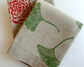 Tea Towels. Flax Linen. Choose any two. Rustic Autumn Kitchen.