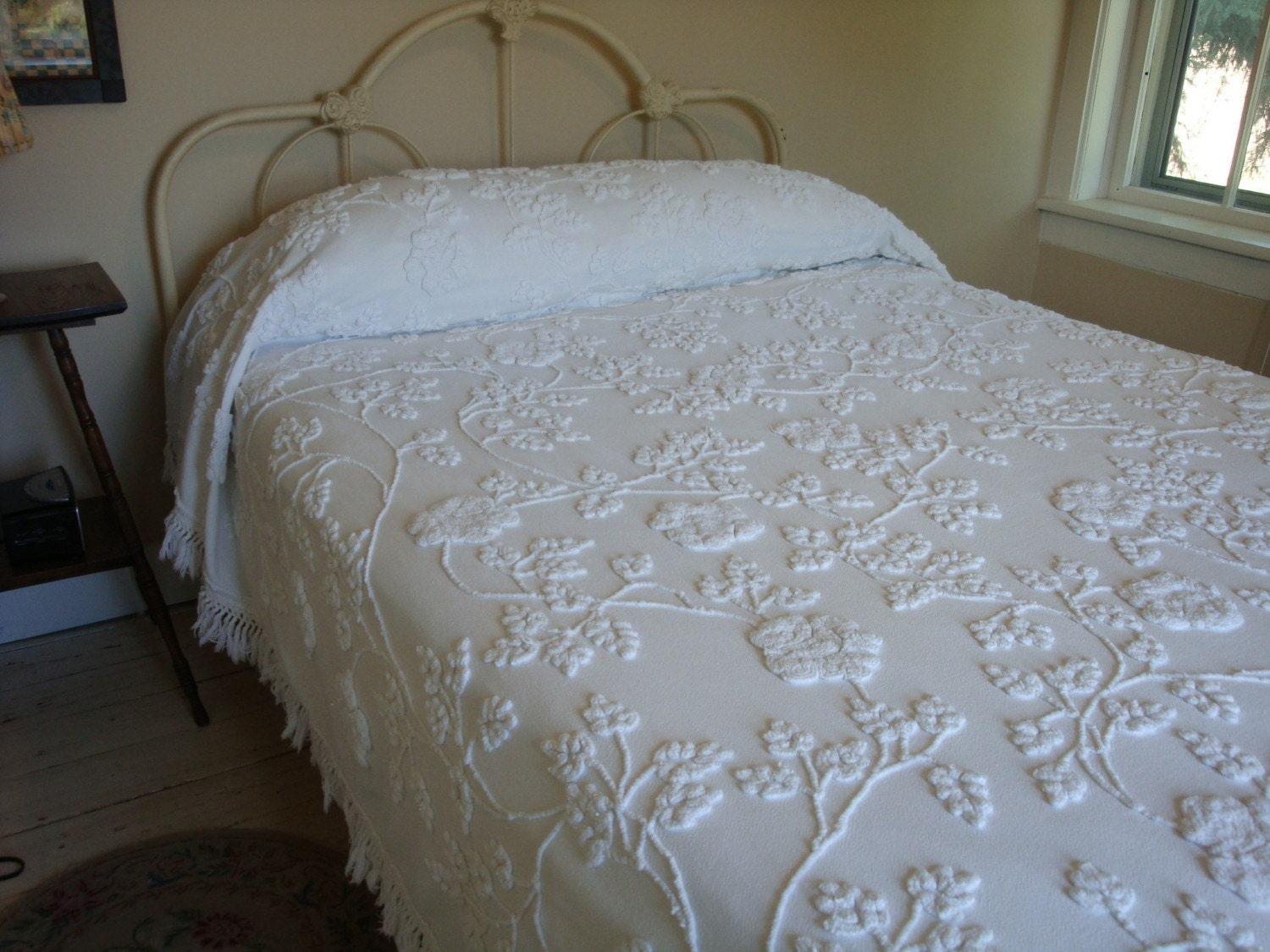 Cabin Crafts Vintage Chenille Bedspread By Harrietsdaughter