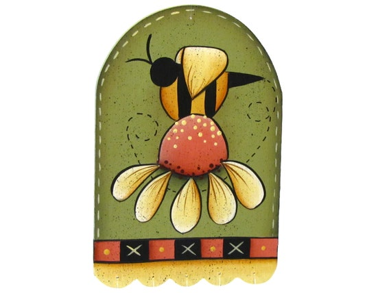 Bee and Daisy Wind Chime, Handpainted