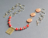 SALE Think Pink Mixed Media Necklace
