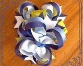 M2M Janie and Jack. Beautiful Set of 2 Hairbow. Made To Match. ENCHANTED GARDEN.