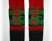 Leg or Arm Warmers - Red Nosed Reindeer