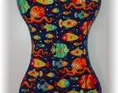Burp Cloth - Sea Life - Fish and Octopus