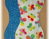 Burp Cloth Set of 2-  Hearts and Butterflies