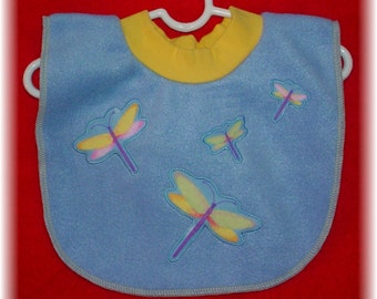 Pull Over Baby / Toddler Bib - Dragonfly