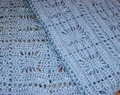 Itsy Bitsy Spider Baby Afghan ~ Blue or Choose Your Color ~ Made To Order