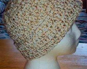 Ladies Crocheted Thermal Stitch Hat - Wheat Or In Your Choice of Color