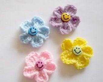 Happy Little Flowers - Set of 4