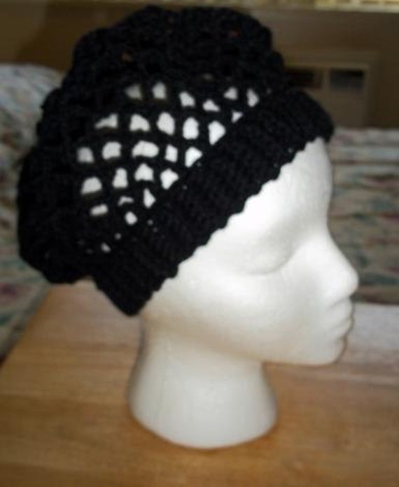 Chain Mesh Slouchy Hat - Black or Your Choice of Color